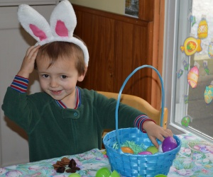Doesn't everybody get chocolate-bunny grahams and prunes for Easter?