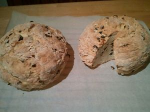 Soda bread just out of the oven