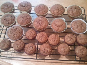 Big muffins for mama and papa and little muffins for me!