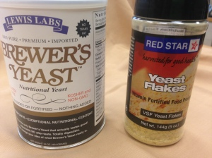 One of these is nutritional yeast, and one is not. Psss... its the one on the right.)